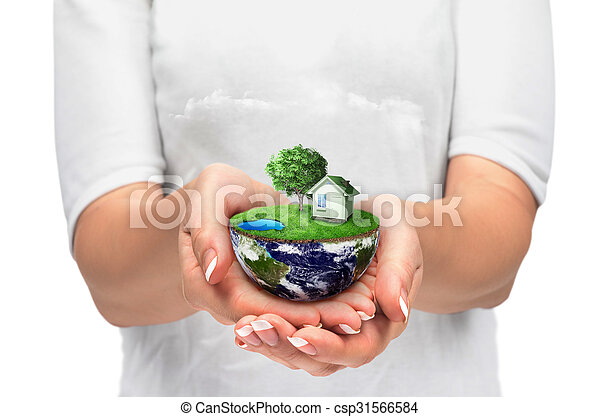 terra, mãos - csp31566584