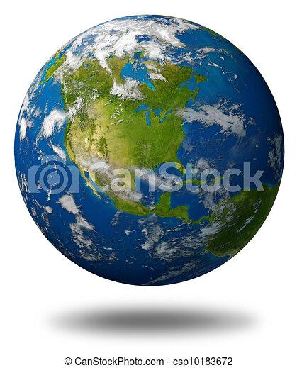 terra pianeta, caratterizzare, america, nord - csp10183672