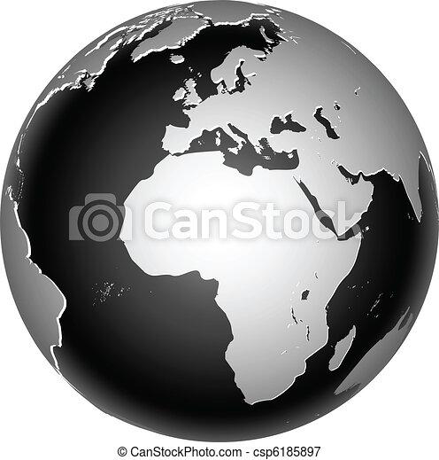 terra pianeta, globale, icona, mondo - csp6185897