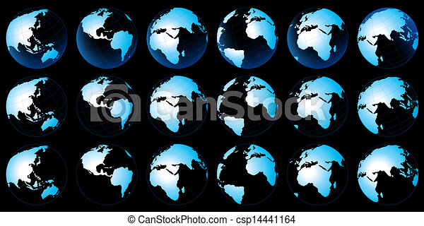 terra pianeta, mappa - csp14441164