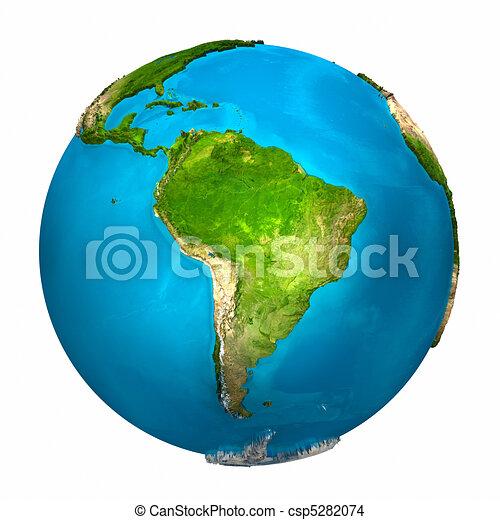 terra planeta, américa, -, sul - csp5282074
