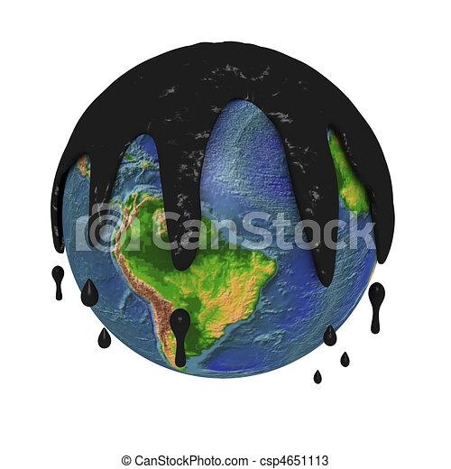 terra planeta, poluído - csp4651113