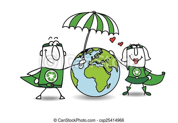 terra, protezione - csp25414966