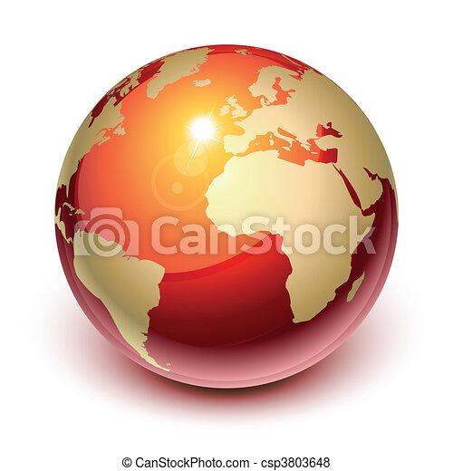 terra, rosso - csp3803648