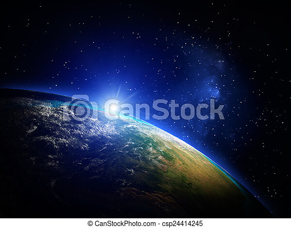 terra, spazio - csp24414245