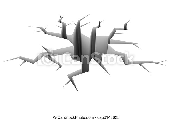 terra, suolo, white., crepa - csp8143625