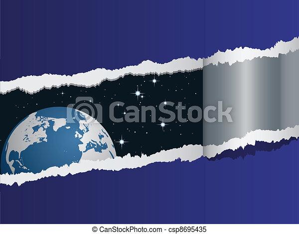 terra, vetorial, vista, espaço - csp8695435