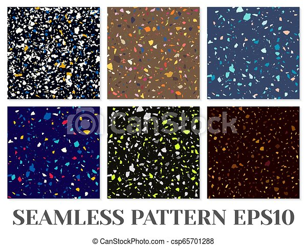 Terrazzo Flooring Vector Seamless Pattern Texture Of Classic Italian Type Of Floor Composed Of Natural Stone