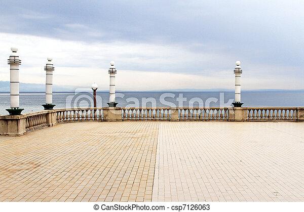 terrazzo, mare - csp7126063