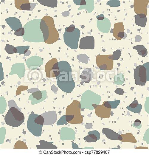 terrazzo, pattern., texture., piso, seamless, roca, mármol, piedra - csp77829407