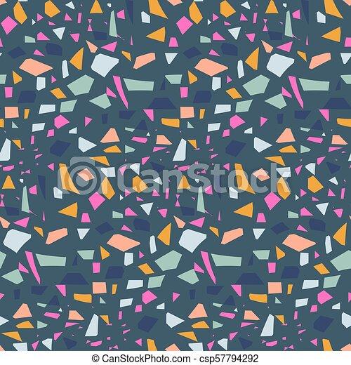 Terrazzo Tile Background Vector Pattern Design