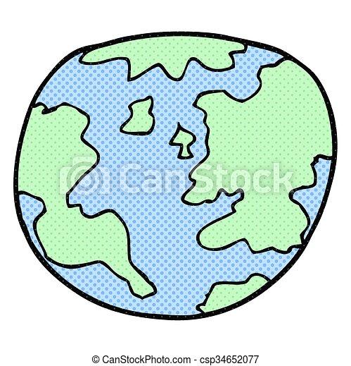 Terre Planète Dessin Animé