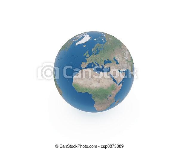 terre planète - csp0873089