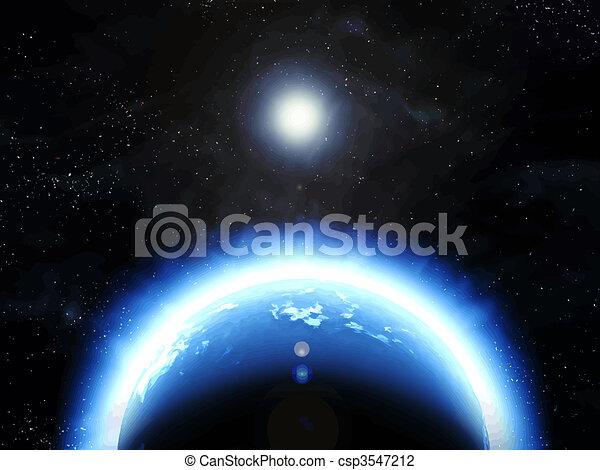 terre planète, espace - csp3547212
