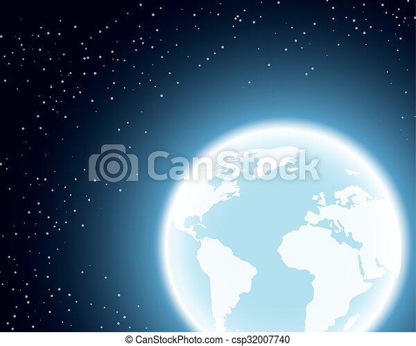 terre planète, espace - csp32007740