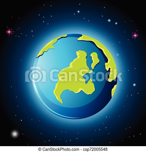 terre planète, espace - csp72005548