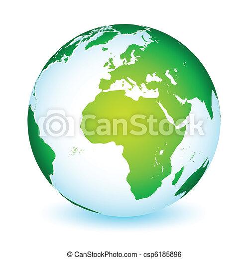 terre planète, global, icône, mondiale - csp6185896
