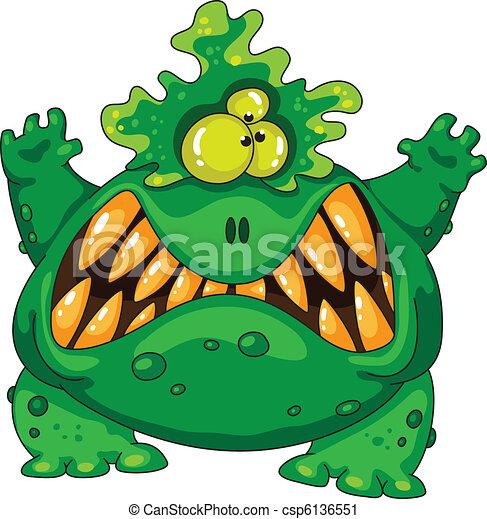 terrible green monster - csp6136551