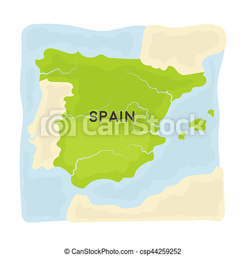 Territory of spain icon in cartoon style isolated on white territory of spain icon in cartoon style isolated on white background spain country symbol stock gumiabroncs Choice Image