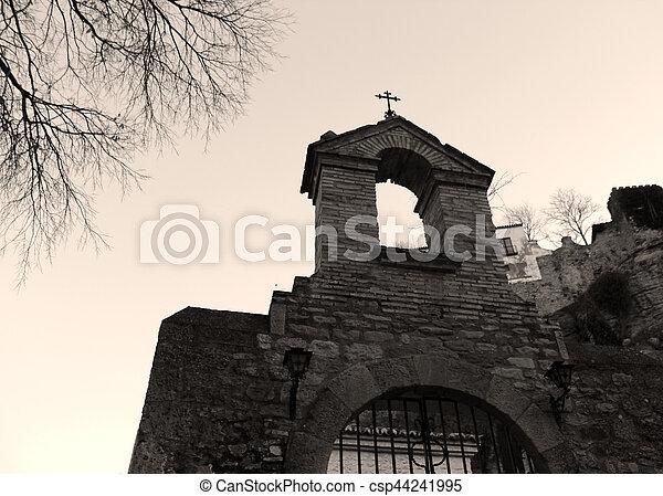terror cementery entrance - csp44241995