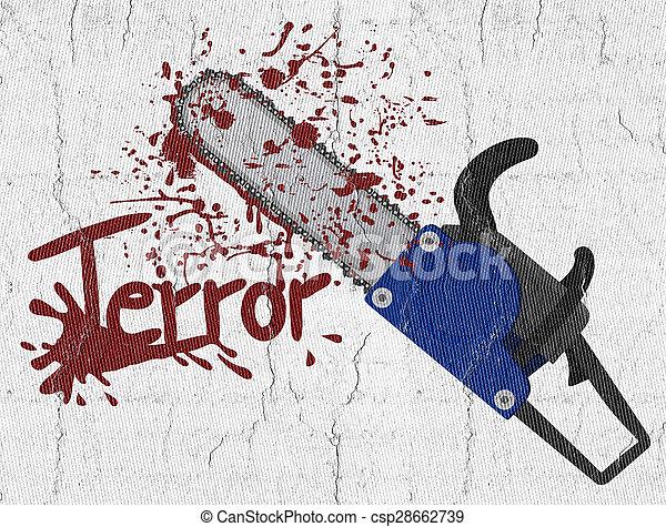 Terror chainsaw - csp28662739