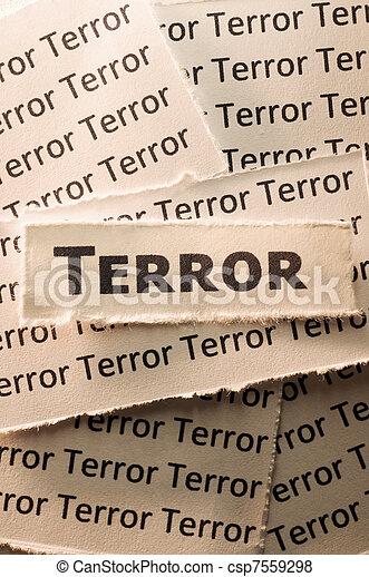 Terror - csp7559298