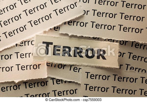 Terror - csp7559303