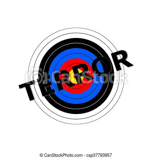 Terror Target - csp37793957