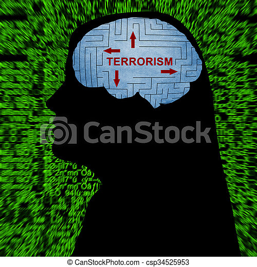 terrorismo, mente - csp34525953