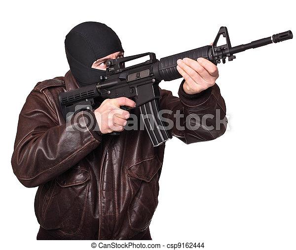 terrorist portrait - csp9162444