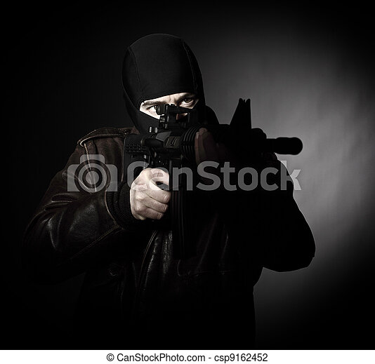 terrorist portrait - csp9162452