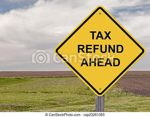 terugbetaling, belasting, voorzichtigheid, -, vooruit - csp23261083