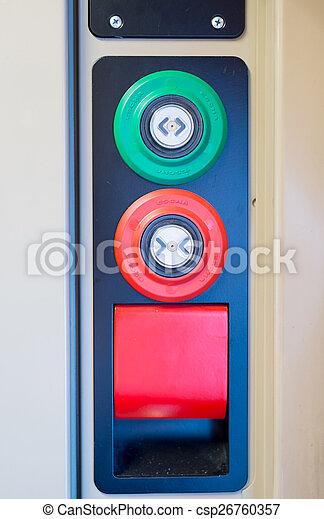 terv, különböző, gombok, modern, ajtó, kiképez - csp26760357