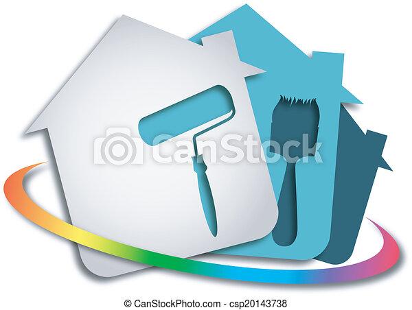 tervezés, festmény - csp20143738