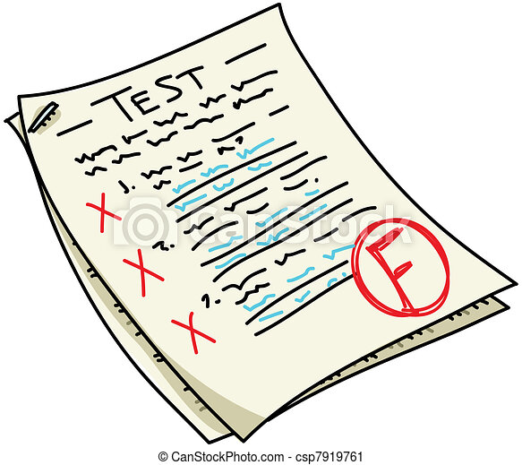 test a cartoon test with an f result rh canstockphoto com test clipart png text clip art creator