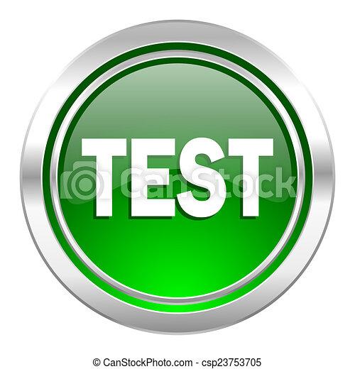 test icon, green button - csp23753705