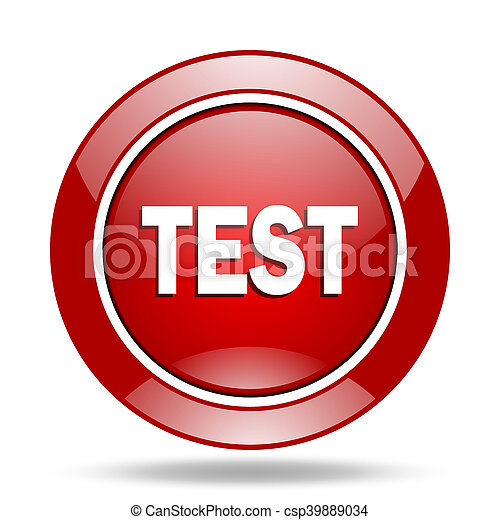 test red web glossy round icon - csp39889034