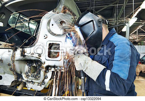 test, repairman, hegesztés, fém, autó - csp13322094