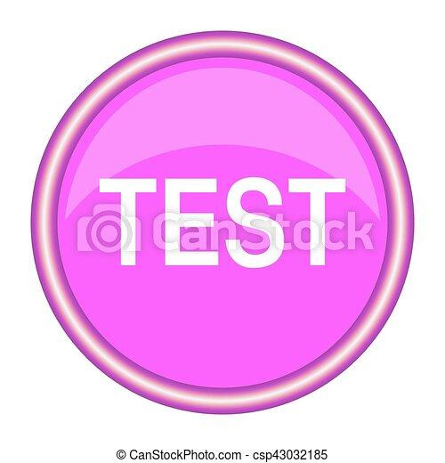 test round glossy pink web icon - csp43032185