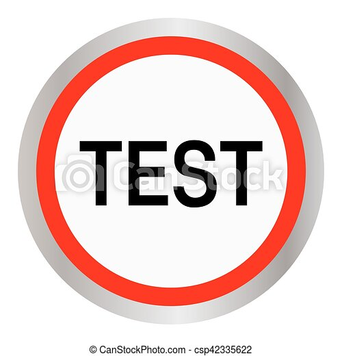 test round glossy red web icon - csp42335622