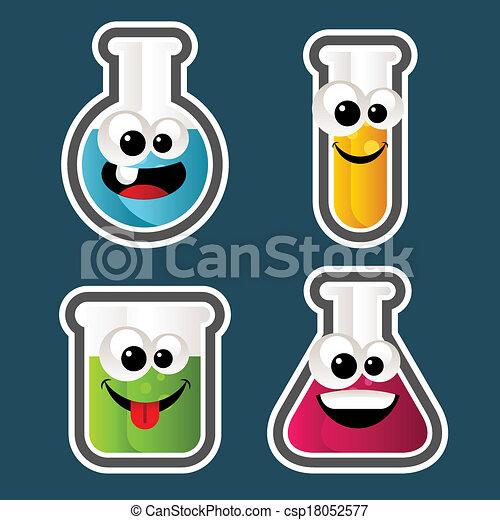 Test Tube Cartoons - csp18052577