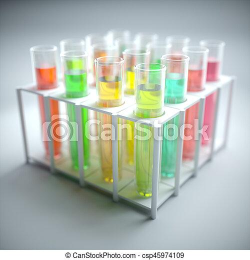 Test Tubes Colored Liquid - csp45974109