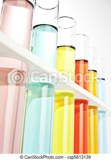 Test tubes filled with colored flui - csp5613139