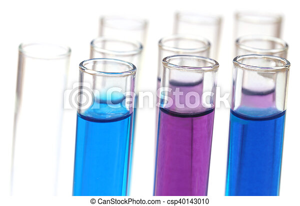 Test tubes with chemicals - csp40143010