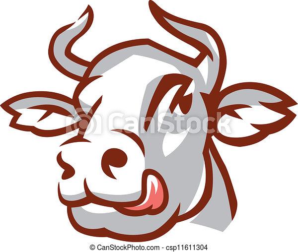 testa, bianco, mucca - csp11611304