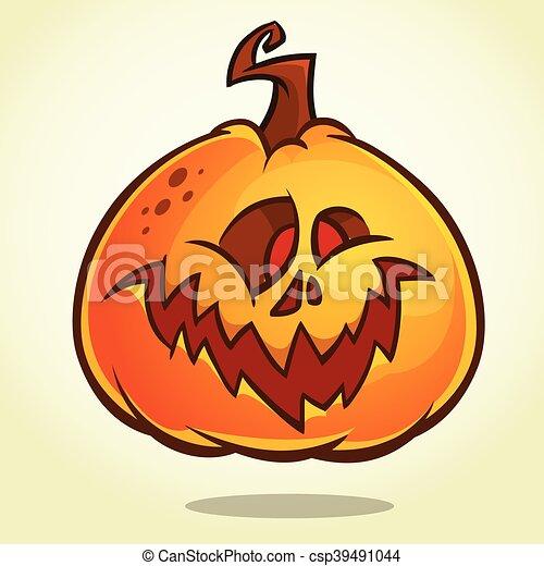 Zucche Di Halloween Cartoni Animati.Testa Halloween Cartone Animato Zucca