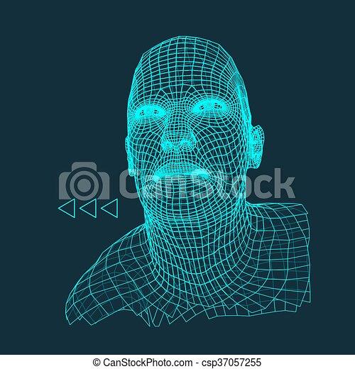 Testa illustration mantello 3d faccia polygonal for Disegno 3d free