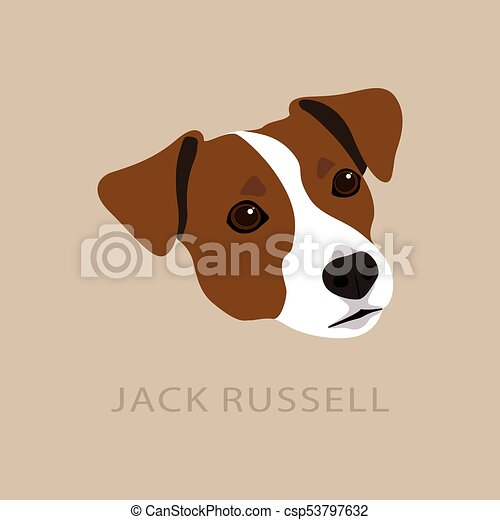 Testa terrier jack russell. russell simbolo cane disegno
