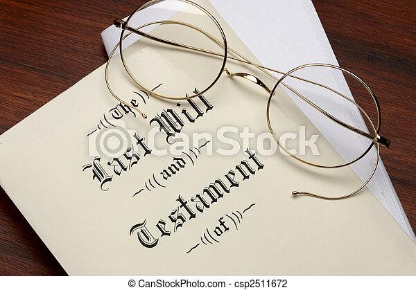 testament, leest - csp2511672