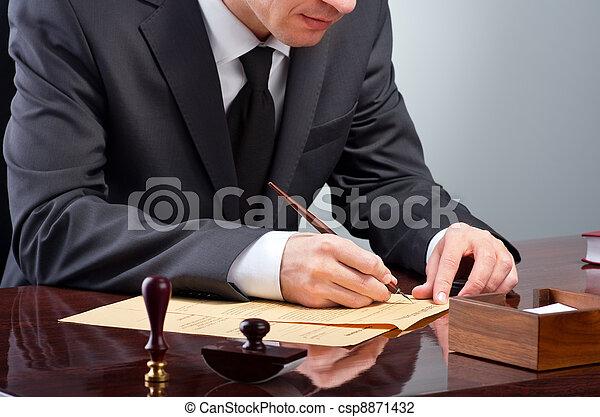 testament, ondertekening - csp8871432